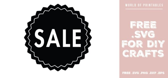 sale sign - Free SVG file for DIY crafts and Cricut