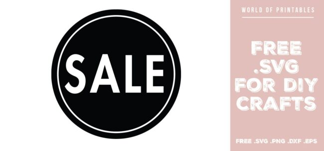 sale sign circle - Free SVG file for DIY crafts and Cricut