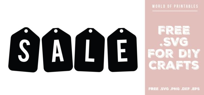 sale sign sale tags - Free SVG file for DIY crafts and Cricut