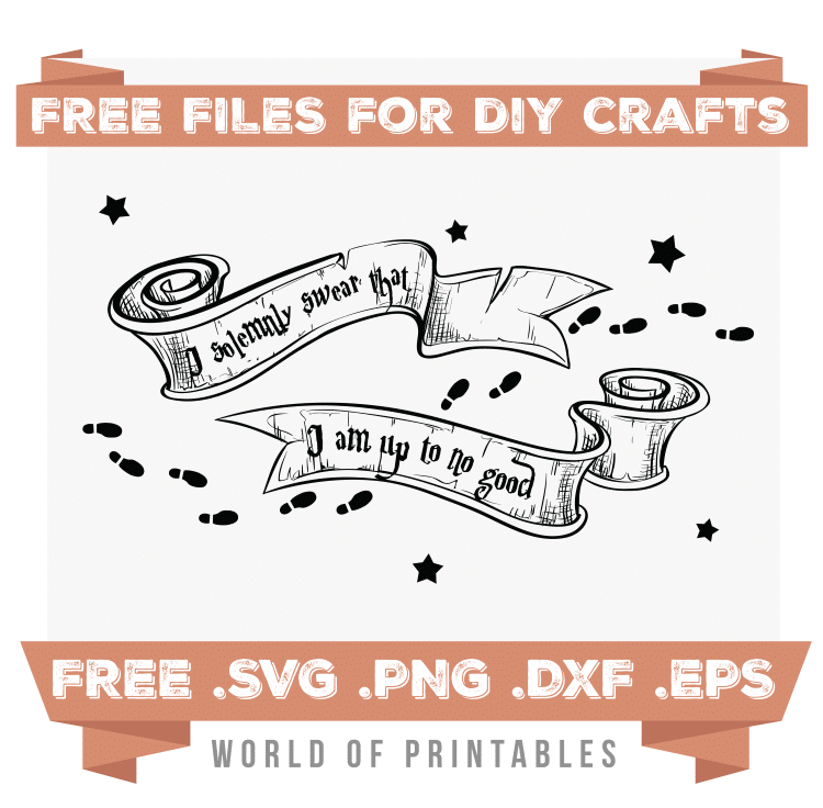 solemnly swear Free SVG Files PNG DXF EPS