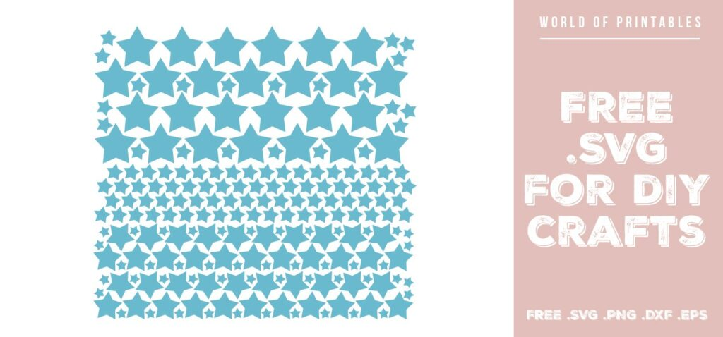 stars pack - Free SVG file for DIY crafts and Cricut