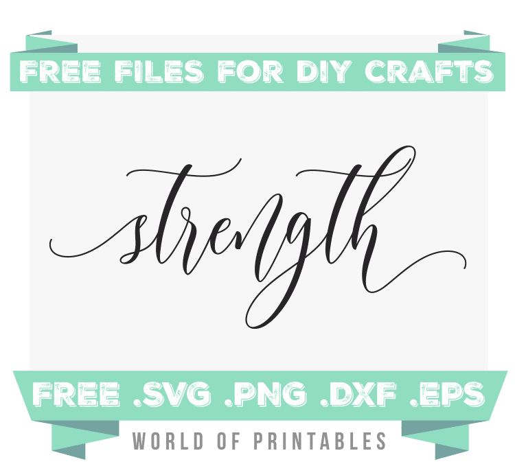 strength Free SVG Files PNG DXF EPS