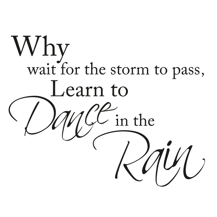 why wait for the storm to pass quote - Free SVG