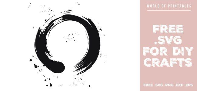 zen brush stroke - Free SVG file for DIY crafts and Cricut