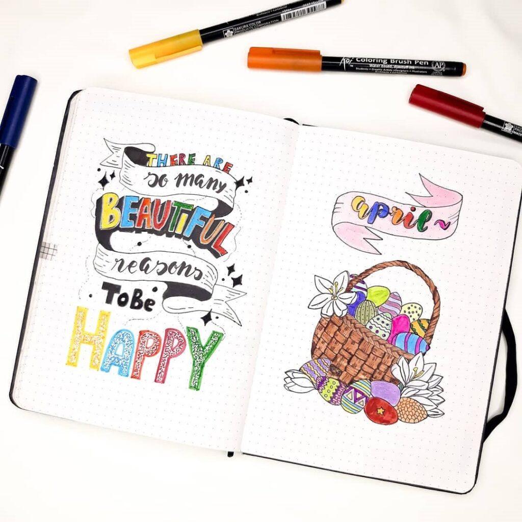 Easter Illustration Bullet Journal inspiration