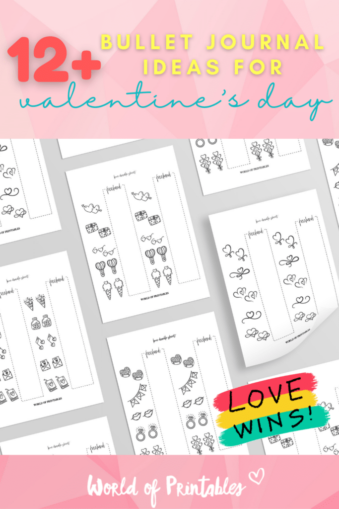 12+ valentine's bullet journal ideas for valentines day - World of Printables