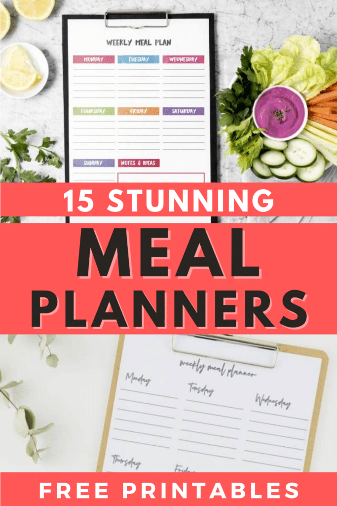 15 Stunning Meal Planners Free Printables