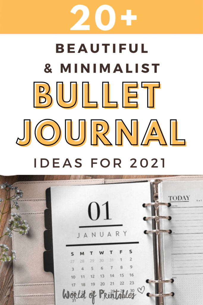 20+ Beautiful And Minimalist Bullet Journal Ideas For 2021