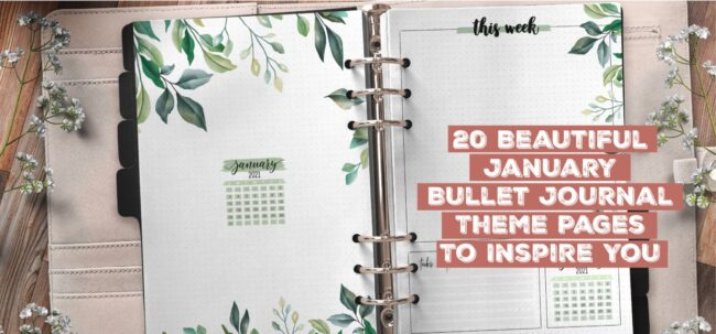 20 Beautiful January Bullet Journal Theme Pages To Inspire You