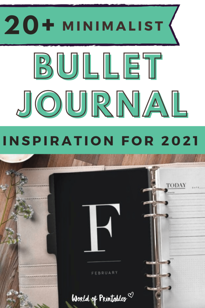 20+ Minimalist Bullet Journal Inspiration for 2021