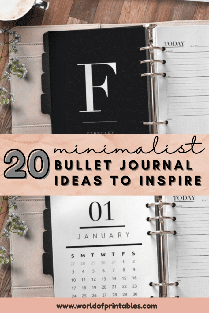20 Minimalist bullet journal ideas to inspire (1)