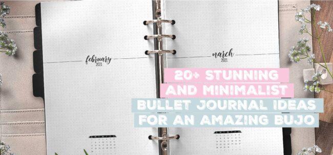 20 Stunning and minimalist bullet journal ideas