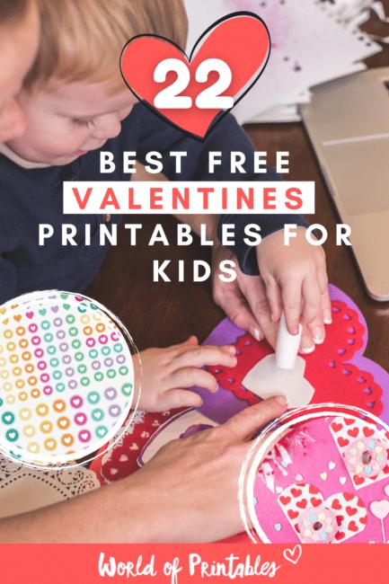 22 best free valentines printables for kids - World of Printables