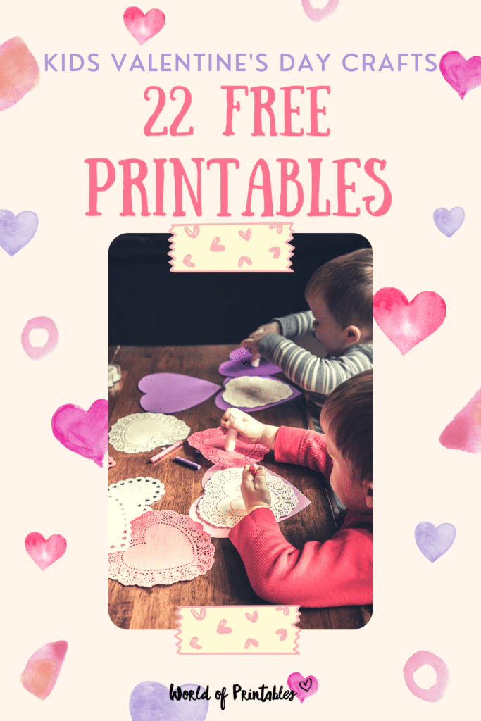 22 free printables for kids valentines day crafts