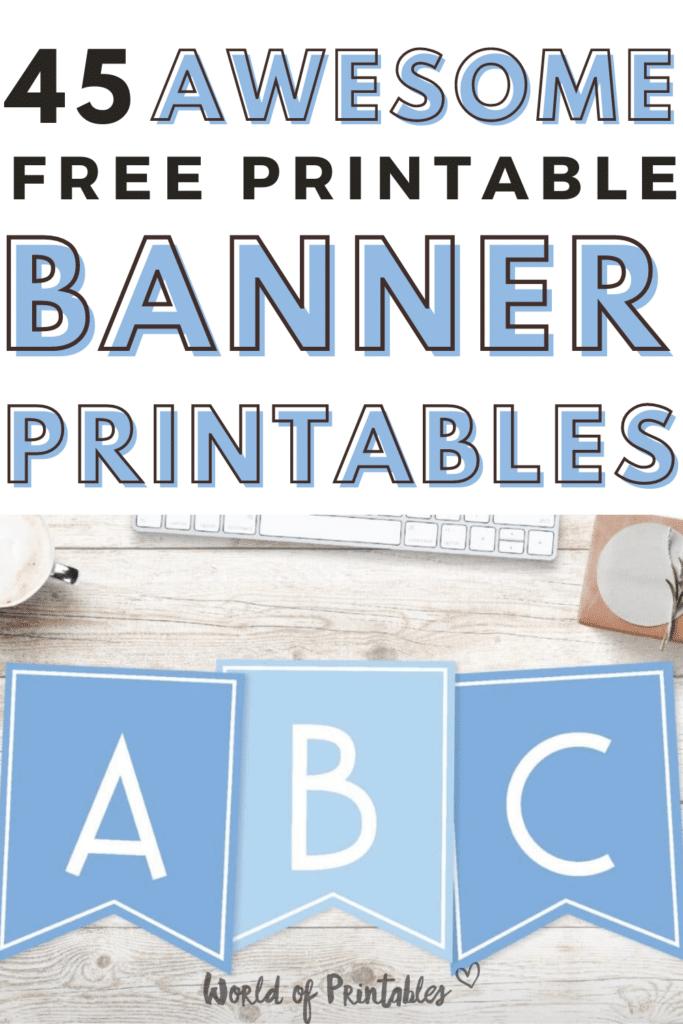 45 Awesome Free Printable Banner Printables