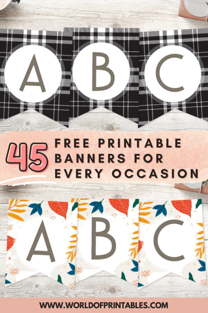 45 Free Printable Banners For Every Occasion - World of Printables