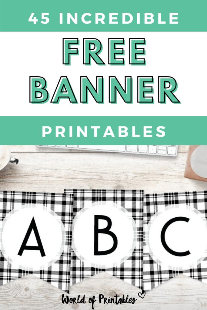 45 Incredible Free Banner Printables