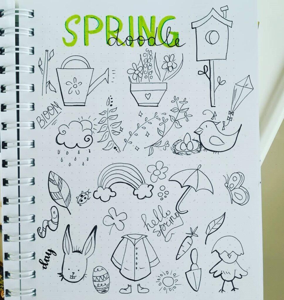 Simple Spring Doodles For Bullet Journal