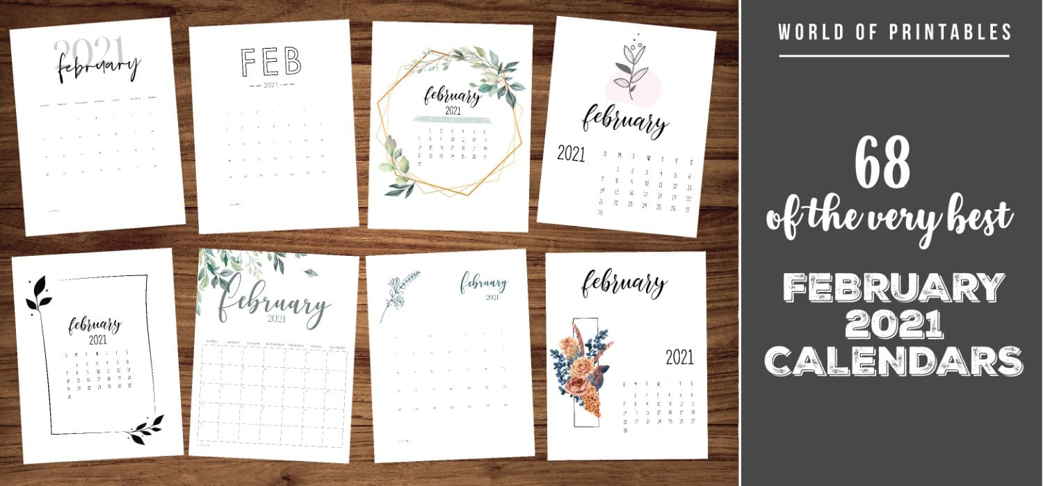 Calendar February 2021 68 Stunning Printable Calendars Monthly calendar for the month february in year 2021. calendar february 2021 68 stunning