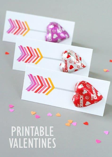 Printable Arrow Valentines