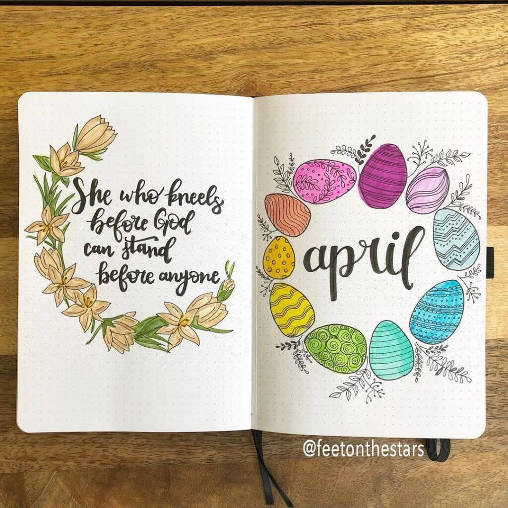 Spring Easter Bullet Journal Inspiration