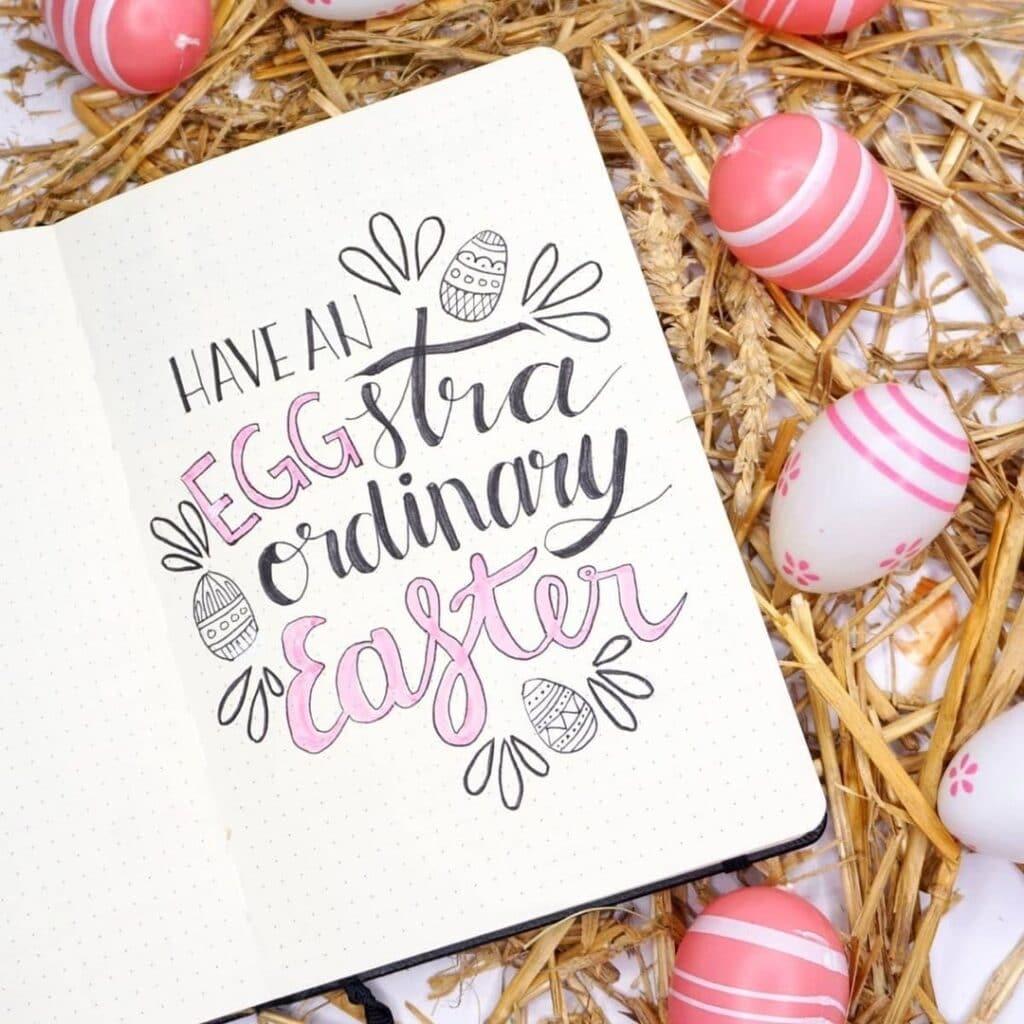 Cute Easter Bullet Journal Idea