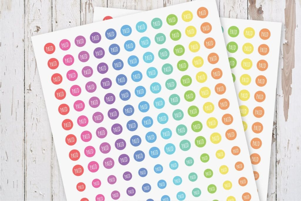 Bill Paid Planner Stickers