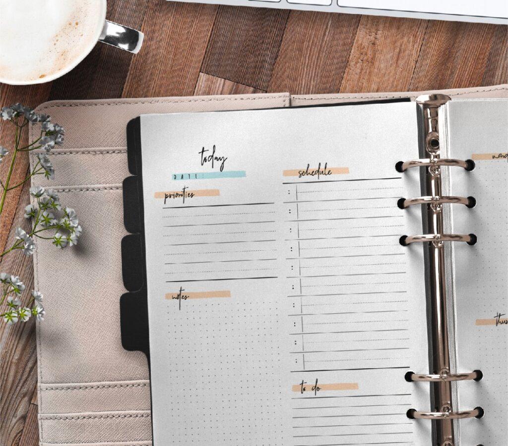 Bullet Journal Day Planner Insert 2