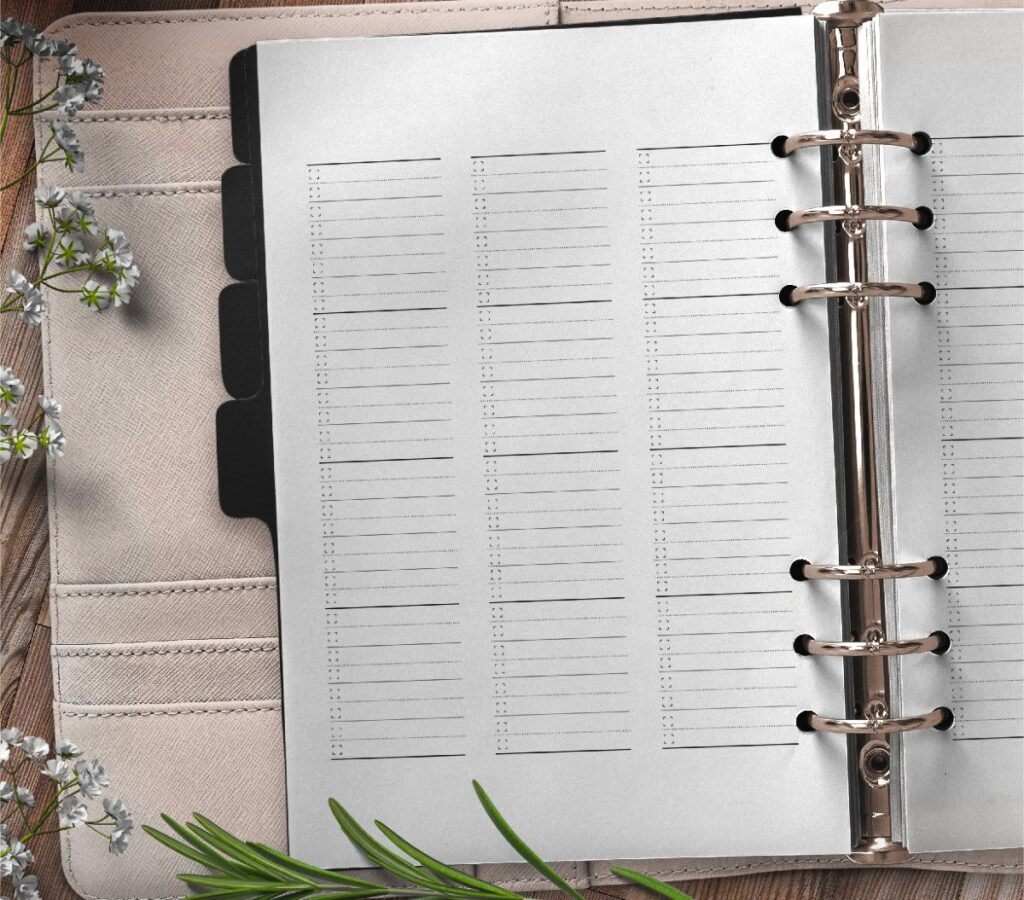 Bullet Journal List Planner Page Free Printable-01