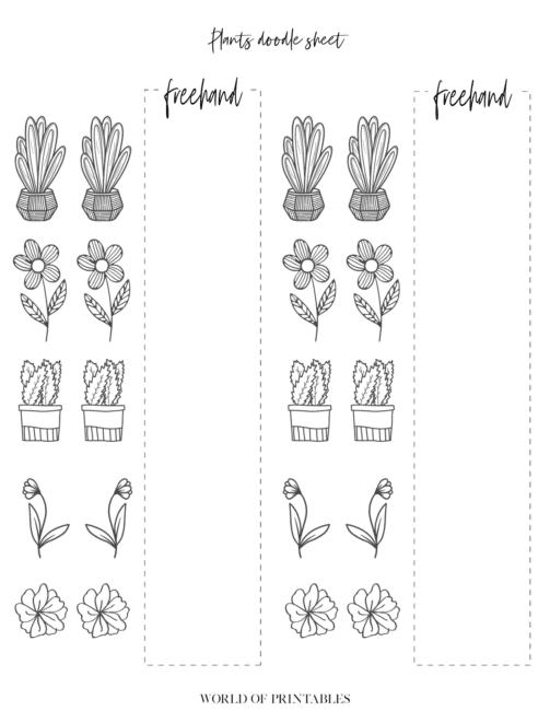 Bullet Journal Plant doodle sheets - page 4