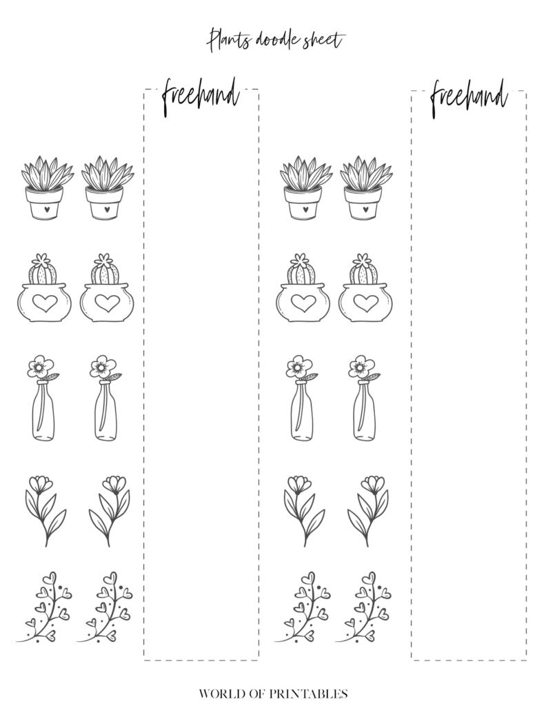 Bullet Journal Plant doodle sheets - page 5
