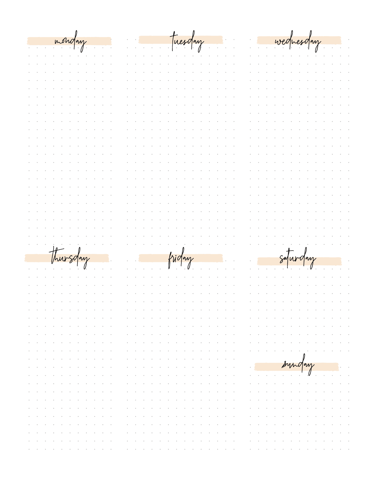 Bullet Journal Week Pages-02
