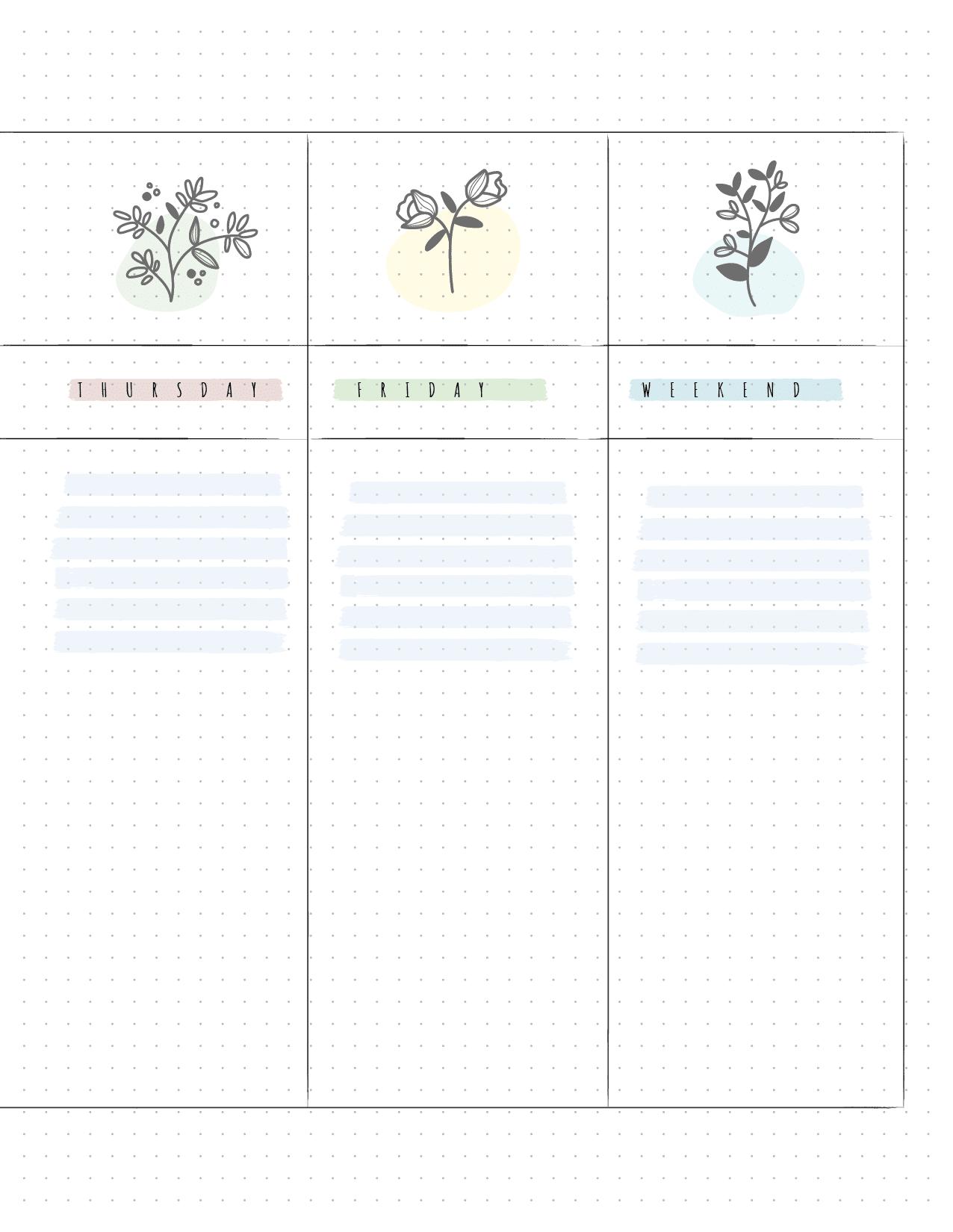 Bullet Journal Weekly Planner-02