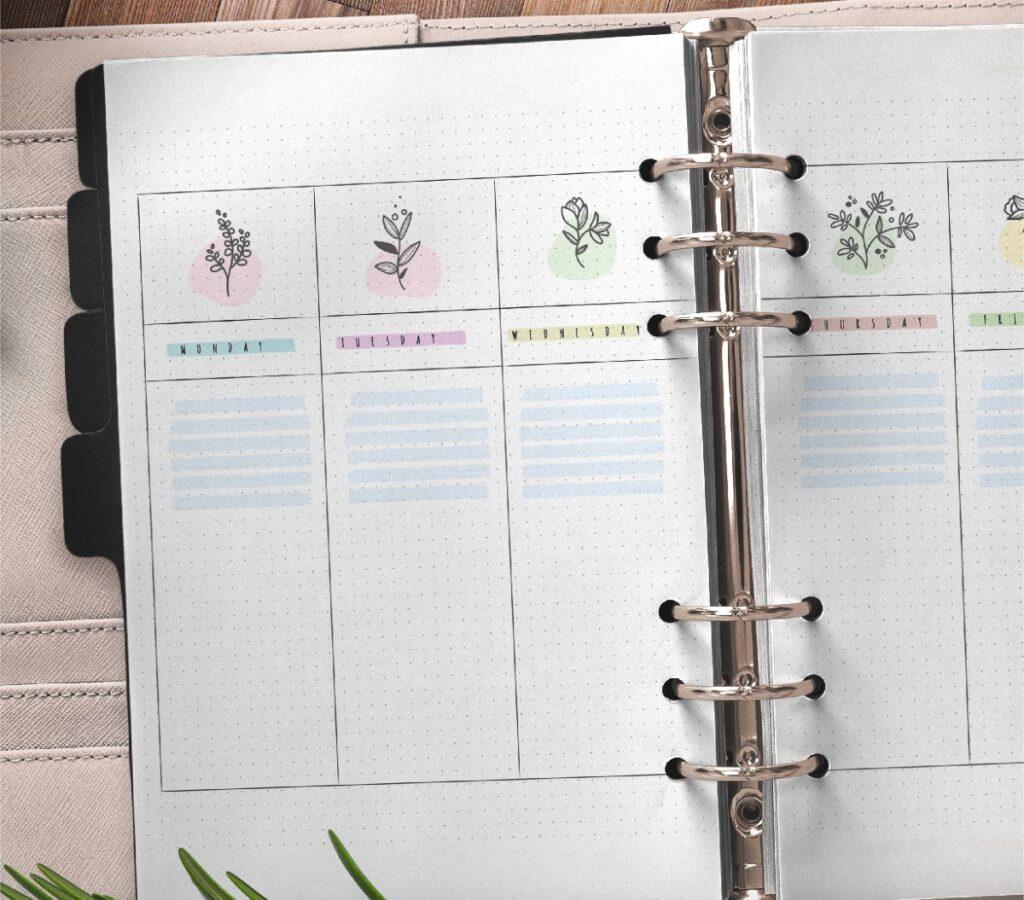 Bullet Journal Weekly Planner Free Printable 1