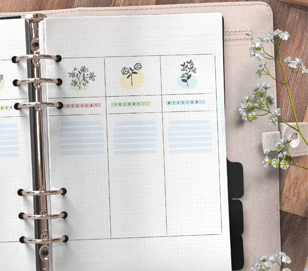 Bullet Journal Weekly Planner Free Printable 3