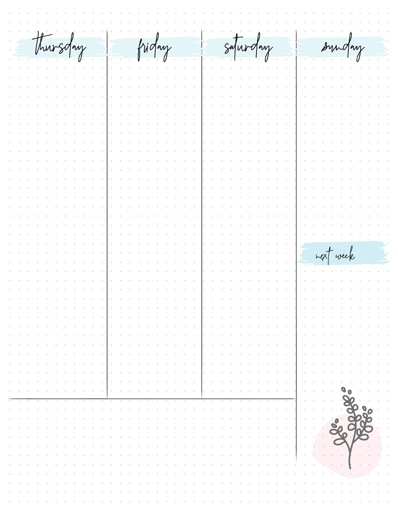 Bullet Journal Weekly Planner On Two Pages-02