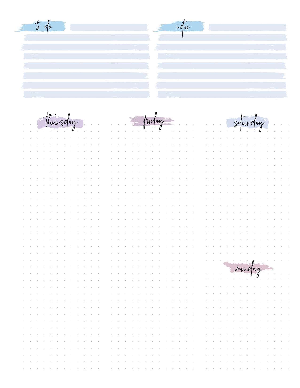 Bullet Journal Weekly Planner Page Spread-02