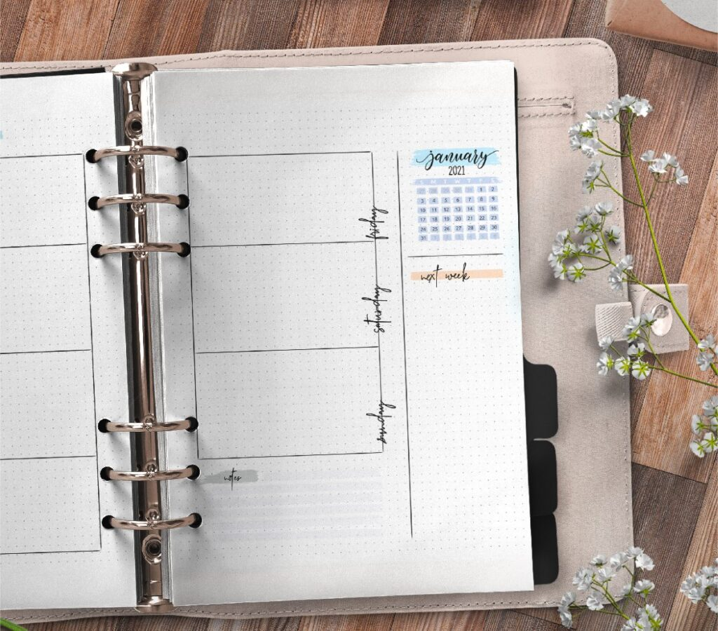 Bullet Journal Weekly Planner Pages Free Printable 2