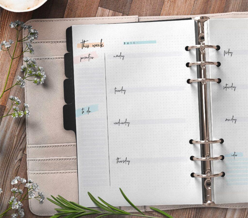 Bullet Journal Weekly Planner Printable Free Printable 1