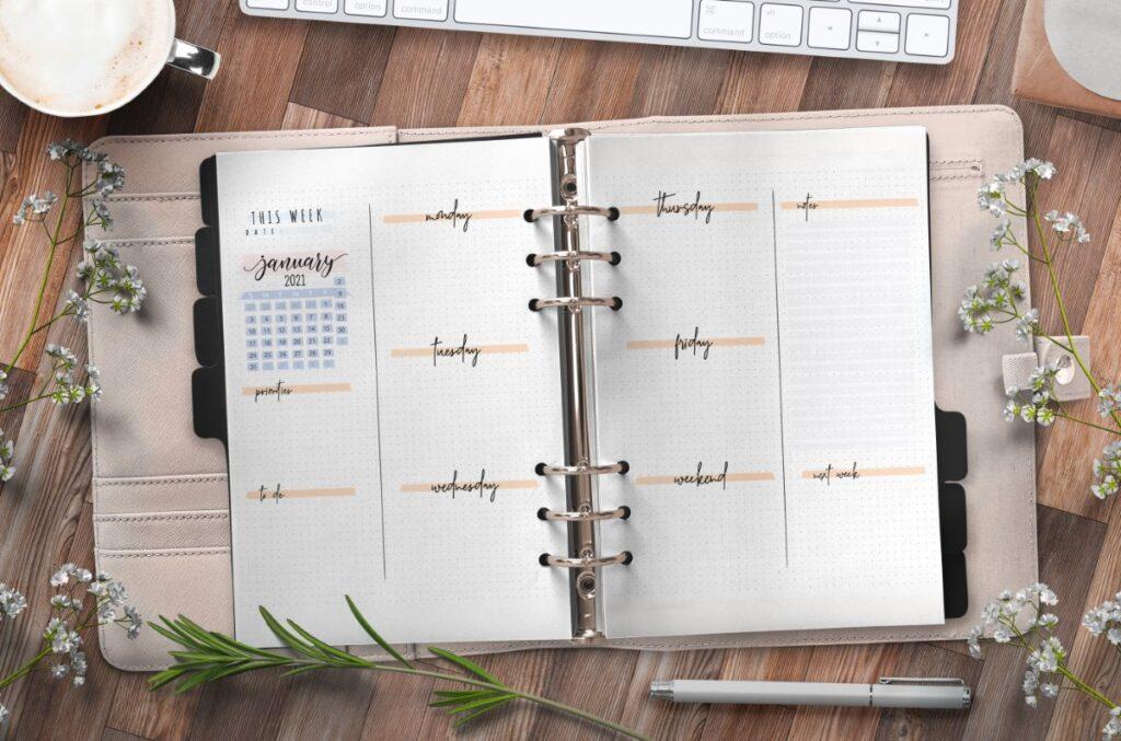 Bullet Journal Weekly Planner Template Free Printable
