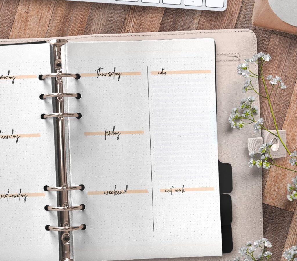 Bullet Journal Weekly Planner Template Free Printable 2