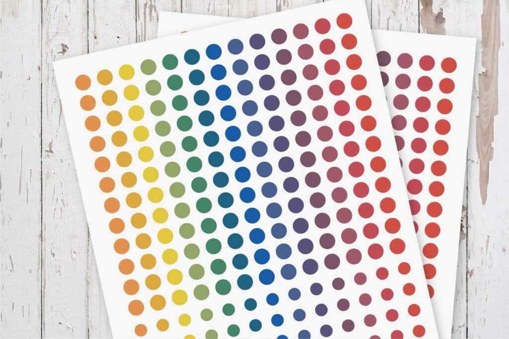 Colorful Dots Planner Stickers