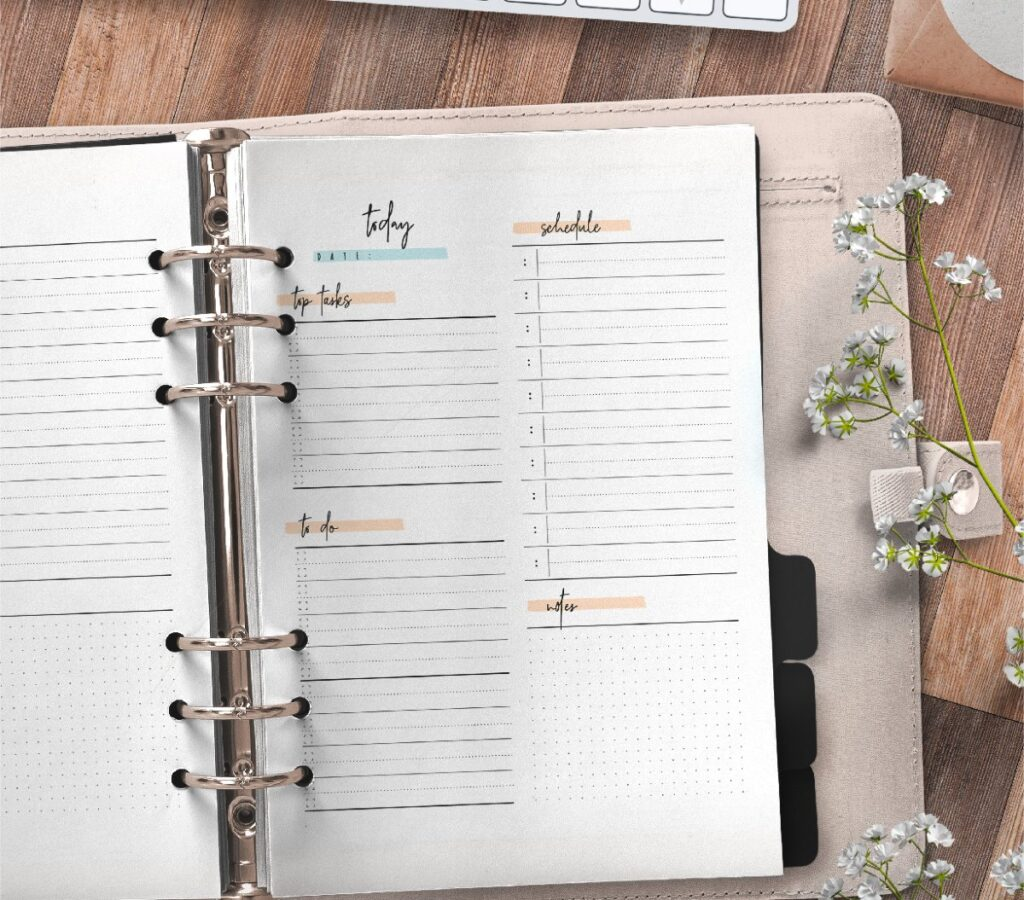 Day Planner Page In Two Styles Free Printable 2