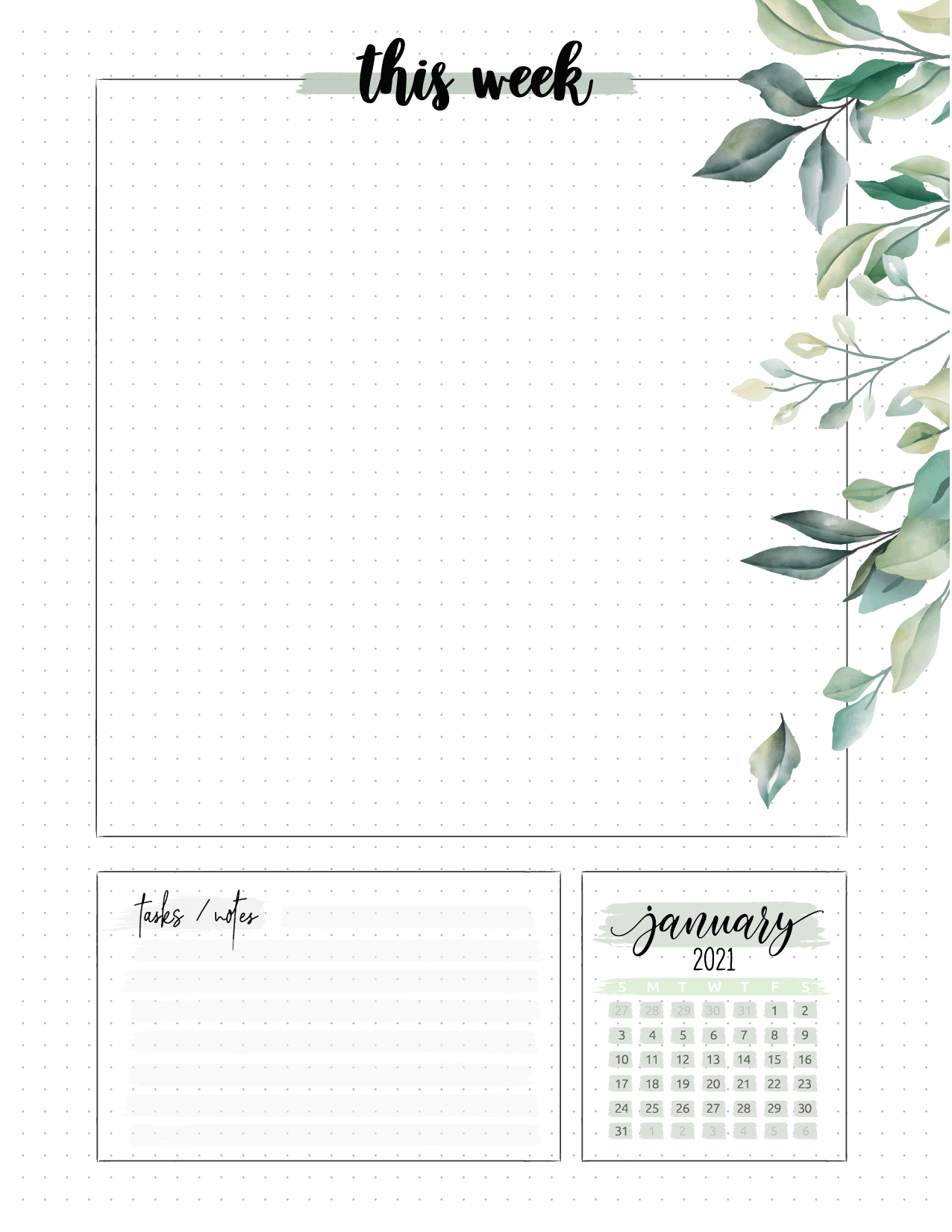 Floral Weekly Planner Pages-02