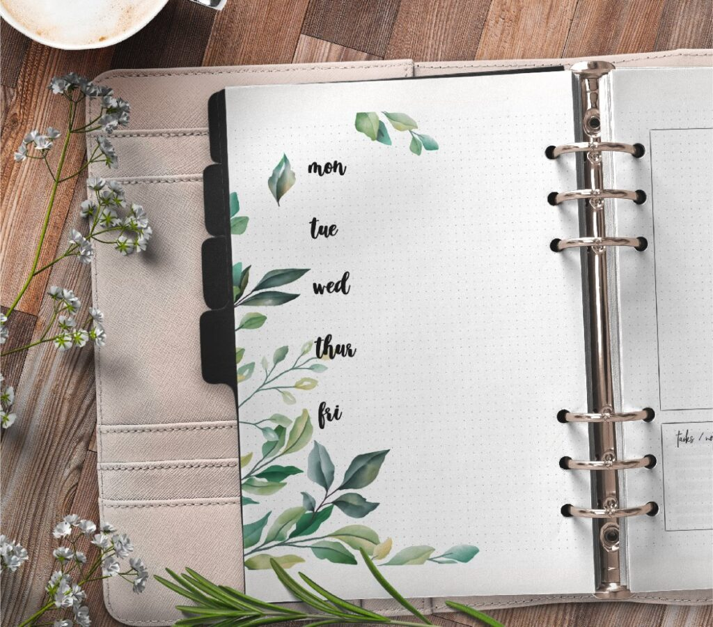 Floral Weekly Planner Pages Free Printable 1