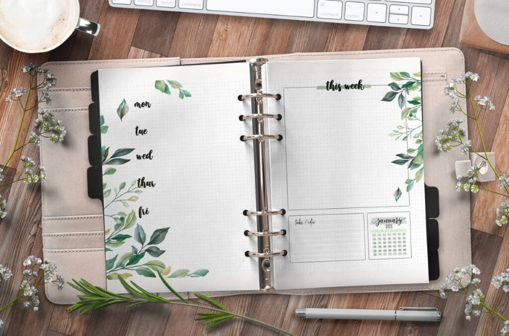 Floral Weekly Planner Pages Free Printable