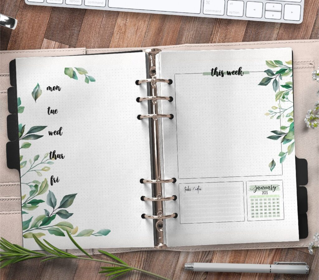 Floral Weekly Planner Pages Free Printable 2