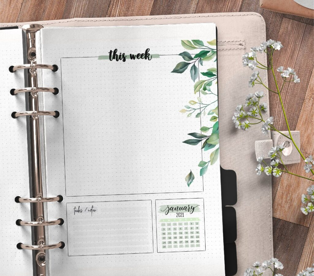 Floral Weekly Planner Pages Free Printable 3