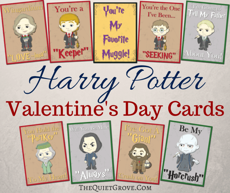 Printable Harry Potter Valentine Cards