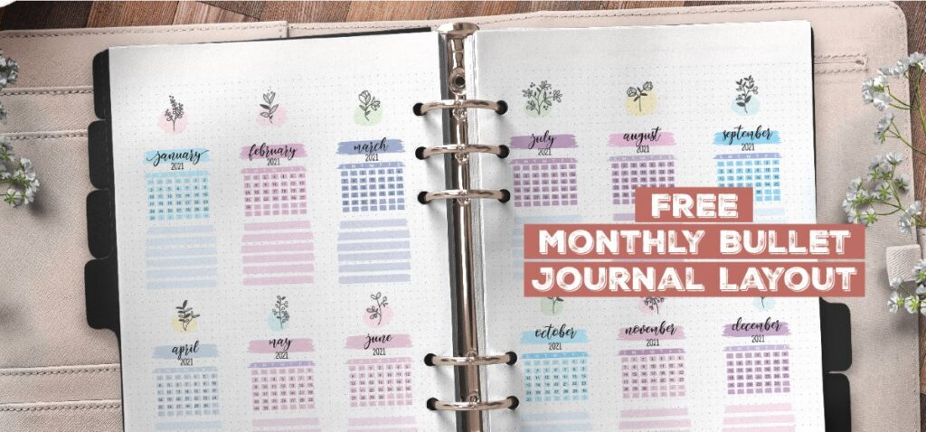 Free Monthly Bullet Journal Layout